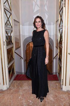 For the opening night of Milan's Teatro Alla Scala, Cristina Parodi wore a #GiorgioArmani dress. #ArmaniStars