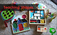 Teaching Shapes - Tot School Week 2 | ALLterNATIVElearning.com