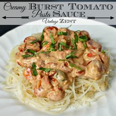 Creamy Burst Tomato Pasta Sauce on Diane's Vintage Zest!