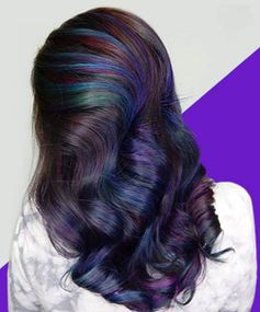 Oil Slick Hair Is the Most Gorgeous Rainbow Hair Color Trend for Brunettes