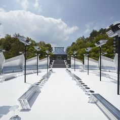 A closer look at the location for the Louis Vuitton Cruise 2018 Fashion Show by Nicolas Ghesquière at the Miho Museum near Kyoto, Japan