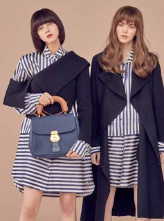 Striped Burberry shirts and the DK88 bag collection featured in Noblesse Korea