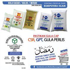 Sokong 1.Gula Cap CSR 2.Gula Cap GPT 3.Gula Perlis (KGFP) 4.Gula Cap Krystal