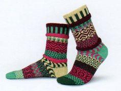 Solmate Socks Vermont Garden Zinnia Sock