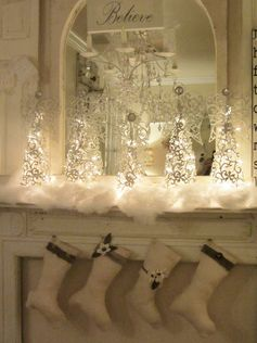 ☆ White Christmas Wonderland ☆  mantle