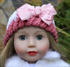 18 inch Doll Cadence Rose, by Harmony Club Dolls, in a one of a kind hat. Available at www.harmonyclubdolls.com