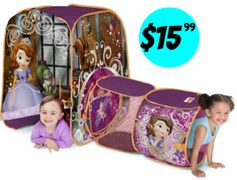 Amazon:  Sofia The First Discovery Hut Tent = $14.99 + FREE Shipping Options! Regularly $34.99!
