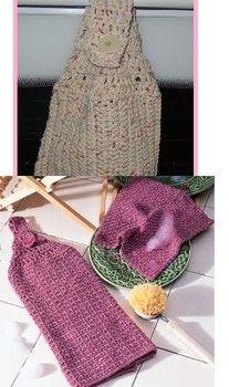 Learn how to crochet a kitchen dishtowel - free crochet dishtowel pattern