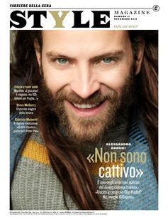 Italian Actor Alessandro Borghi covers the latest Style Magazine Italia in FendiFW16