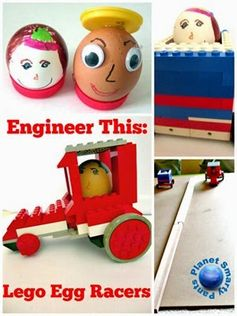 Lego Egg Racers Challenge - Planet Smarty Pants #stem #poetry