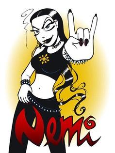 ... Nemi Montoya - cynical and romantic black metal girl