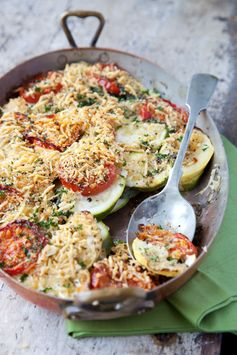 Try this delicious Tomato, Squash and Zucchini Gratin as a healthier alternative to the tradition potato side!