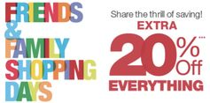 Kohl's:  Friends & Family 20% off Purchase Coupon!