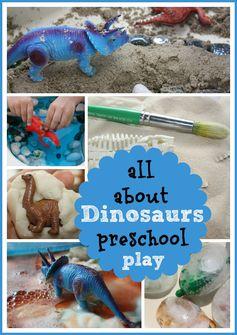 Preschool Dinosaur Activities & Sensory Play #totschool #toddleractivities #dinosauractivities