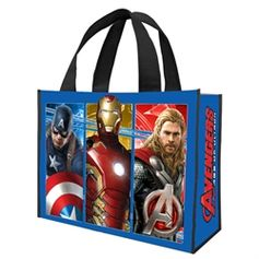 Marvel Avengers 2: Age Of Ultron Movie Large Recycled Shopper Tote #Avengers #AgeofUltron #VandorLLC