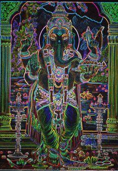 Psychedelic Ganesh