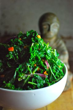 Thai Kale Salad with Coconut Lime Dressing - A colorful and flavorful salad.