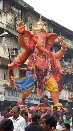 Visarjan or immersion of Lord Ganesha 2014....on the way to Girgaon chowpatty ..Mumbai