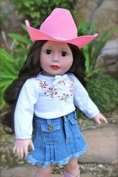 Western doll clothes that fits American Girl at www.harmonyclubdolls.com