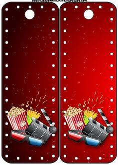 Fiesta de Cine: Invitaciones y Tarjetería para Imprimir Gratis