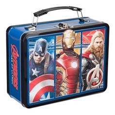 Marvel Avengers 2: Age Of Ultron Movie Large Tin Tote #Avengers #AgeofUltron #VandorLLC