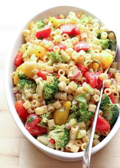 Marinated Vegetable Pasta Salad - A cool pasta salad loaded with veggies and easy to make for a cookout!