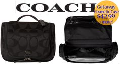 6pm: Coach Getaway Cosmetic Case = $42.99 + FREE Shipping! Regularly $128 + up to 81% off All Coach Items!