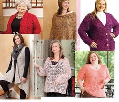Crochet plus size fashions that flatter the full figured woman