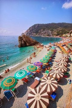 Montorosso Beach is a fun day trip for Mediterranean relaxation