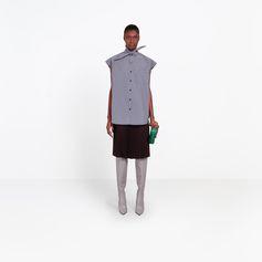 BALENCIAGA Sleeveless Scarf Shirt