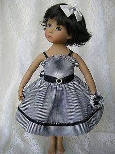 "Navy Sundress for 13"" Dianna Effner Little Darling Doll 4 PC Handmade Tomi Jane | eBay. Ends 6/24/14. Sold for $255.00."