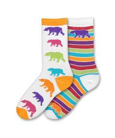 Bear Mismatch Socks by For Bare Feet find them Here http://www.socksbymyfootfetish.com/bearmismatched