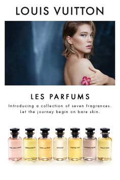Les Parfums Louis Vuitton. A collection of seven scents. Click to Start the Journey.