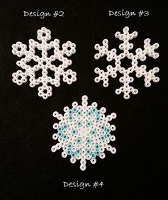 Snowflake Perler Bead Ornaments by AshMoonDesigns on deviantART