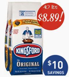 Lowe's.com:  40 lbs Kingsford Charcoal Briquets = $8.89 + FREE Pickup! Regularly $19.99!