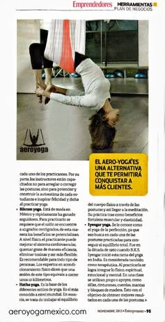 AeroYOga® Yoga Aerien Presse et Télévision