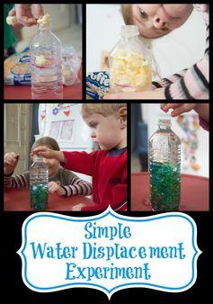 Life with Moore Babies: Simple Water Displacement Experiement #totschool #toddleractivities