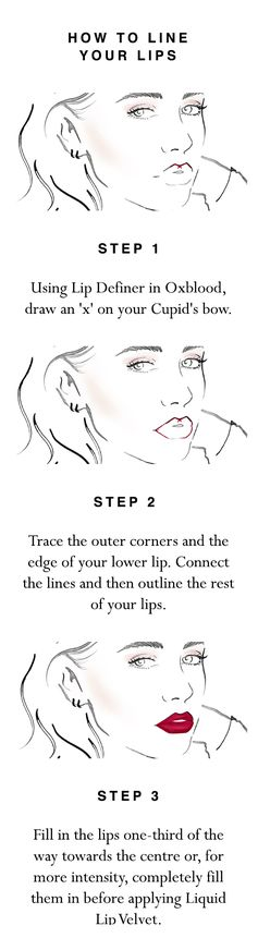 Use Lip Definer in Oxblood to make your Liquid Lip Velvet look last longer. Follow the three simple application steps and shop the products at Burberry.com
