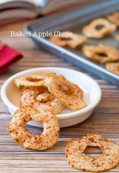 Baked Apple Chips - Easy to make snack that's good for the whole family.