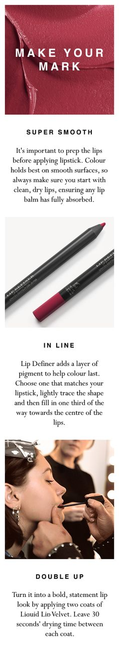 Learn how to make your new Burberry Liquid Lip Velvet colour last in three quick and easy steps. Shop the products at brby.co/5lc