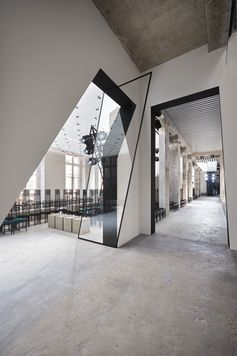 Empty runway of the Louis Vuitton Spring-Summer 2017 Fashion Show by Nicolas Ghesquière, presented at Place Vendôme in the heart of Paris, France.