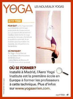 Aero Yoga (yoga Aerien) au magazine Sprit Yoga