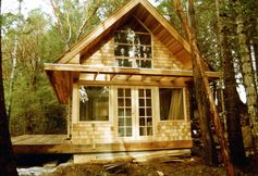 Alternative Small Houses ~ Love the front doors and upper window