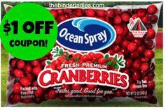 Ocean Spray: $1 off Fresh Cranberries Coupon!