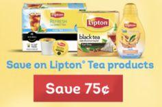 Lipton:  2 FREE Tea K-Cups + 75¢ off ANY Lipton Tea Product Coupon!