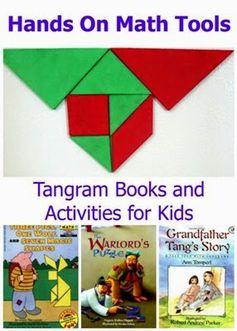 Tangram Books And Activities for Kids #mathforkids #handsonlearning