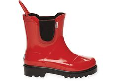 Red Black Tiny TOMS Rain Boots
