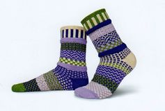 Solmate Socks Vermont Garden Orchid Sock