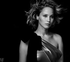 Jennifer Lawrence wearing a gown by Giorgio Armani Privé gown