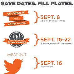 Save The Date: Three fabulous ways you can get involved and support No Kid Hungry #MomsFightHunger